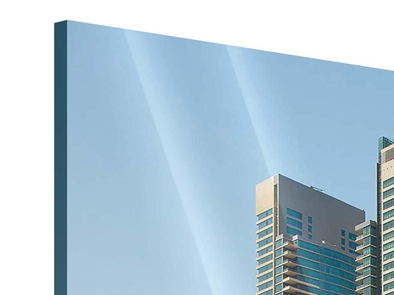 Acrylglasbild Panorama Spektakuläre Wolkenkratzer Dubai