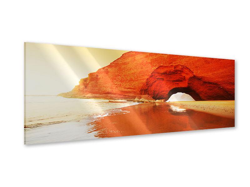 Acrylglasbild Panorama Wasserspiegelung