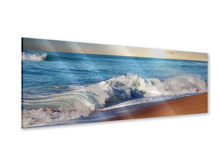Acrylglasbild Panorama Die Wellen des Meeres