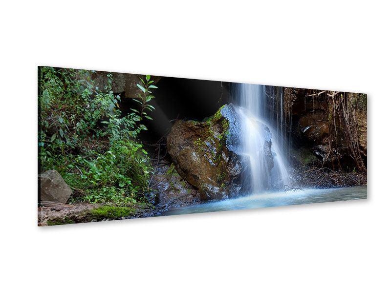 Acrylglasbild Panorama Die blaue Lagune