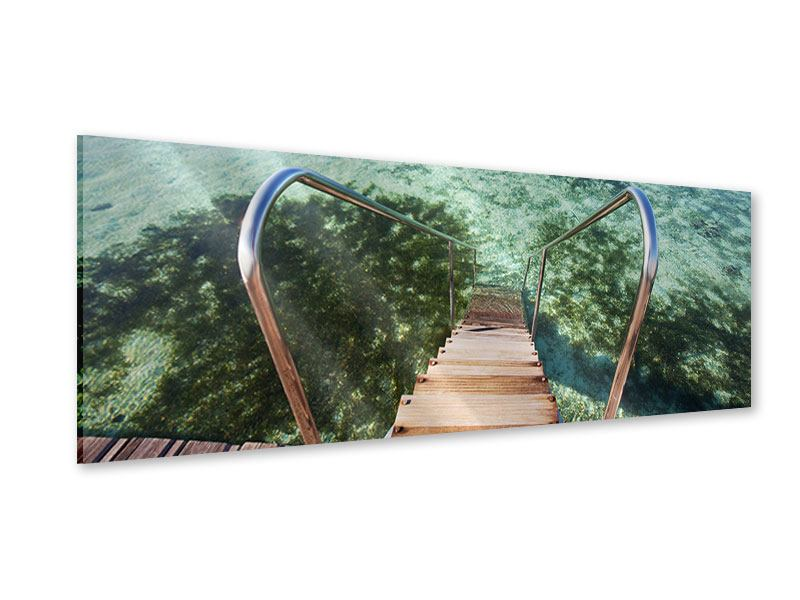 Acrylglasbild Panorama Bad im Meer