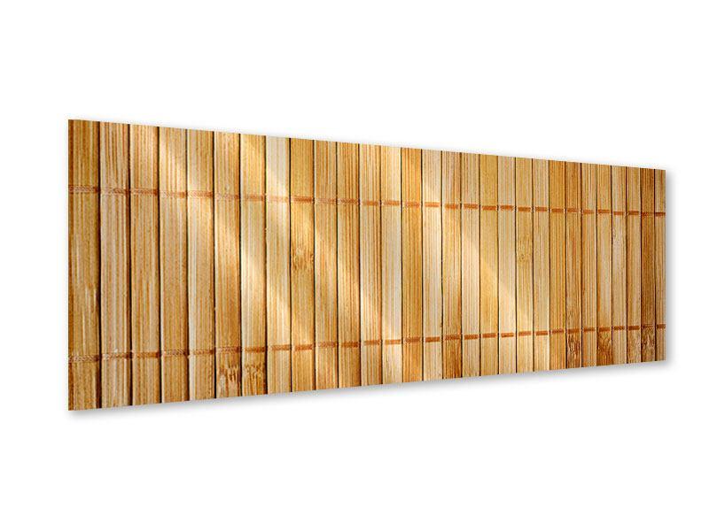 Acrylglasbild Panorama Bambusrohre