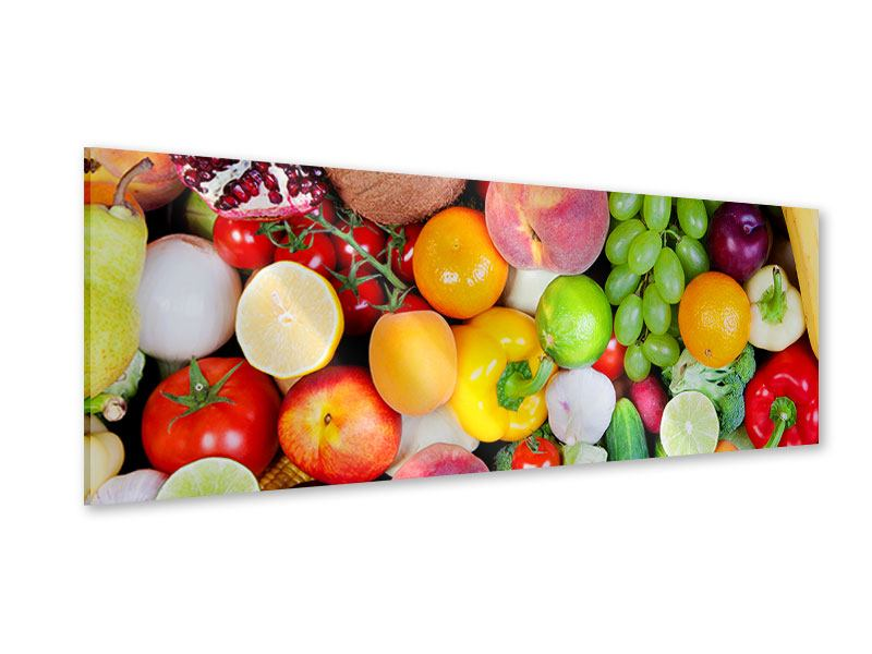 Acrylglasbild Panorama Frisches Obst