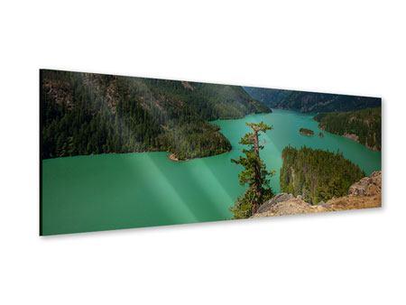Acrylglasbild Panorama Diablo Bergsee