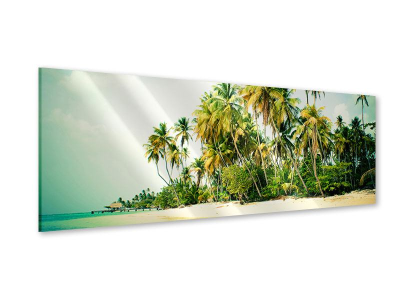 Acrylglasbild Panorama Tobago Cays