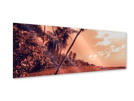 Acrylglasbild Panorama Tropenparadies