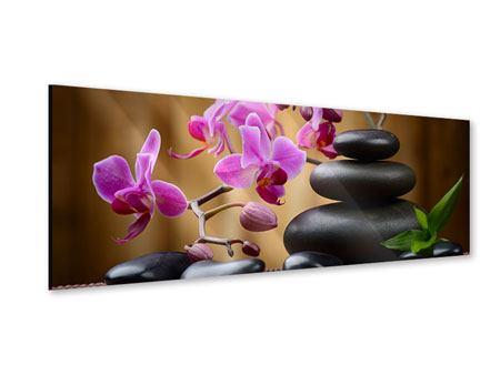 Acrylglasbild Panorama Wellness-Steine