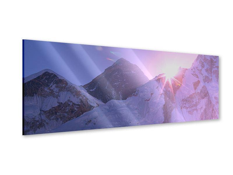 Acrylglasbild Panorama Sonnenaufgang beim Mount Everest