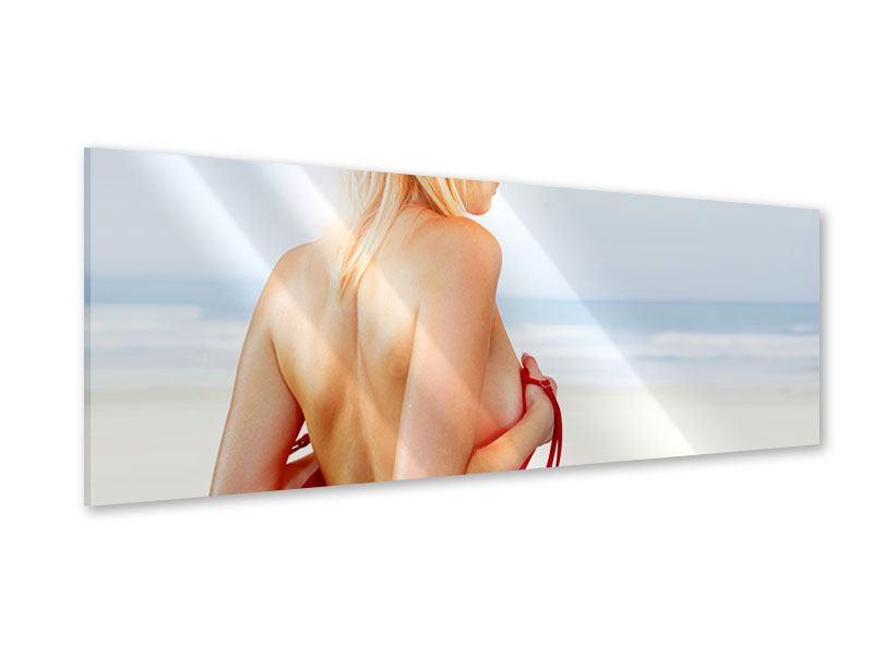 Acrylglasbild Panorama Rücken einer Schönheit