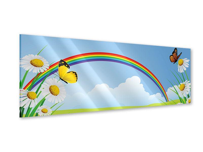 Acrylglasbild Panorama Der bunte Regenbogen