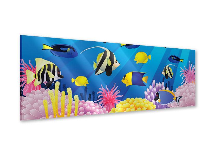 Acrylglasbild Panorama Kinder Unterwasserwelt