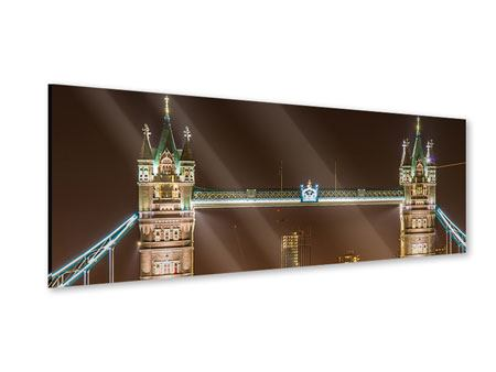 Acrylglasbild Panorama Tower Bridge bei Nacht