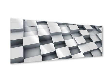 Acrylglasbild Panorama 3D-Kubus
