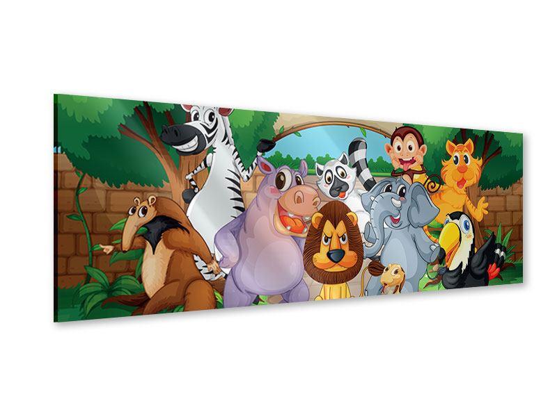 Acrylglasbild Panorama Der lustige Zoo