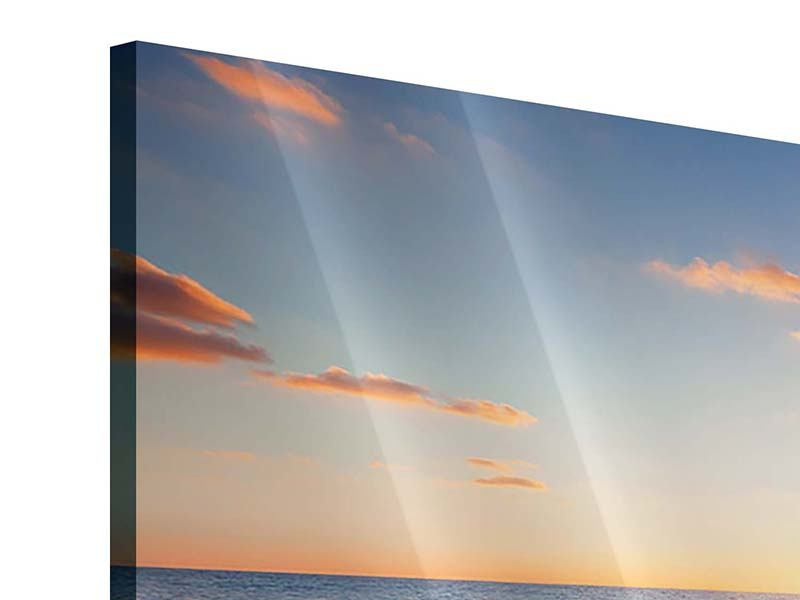 Acrylglasbild Panorama Sonnenuntergang am Horizont
