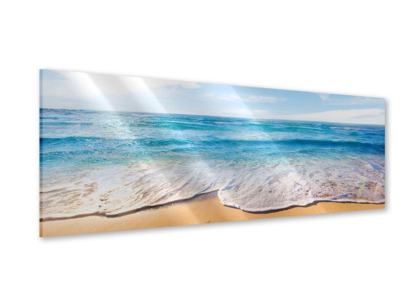 Acrylglasbild Panorama Spuren im Sand