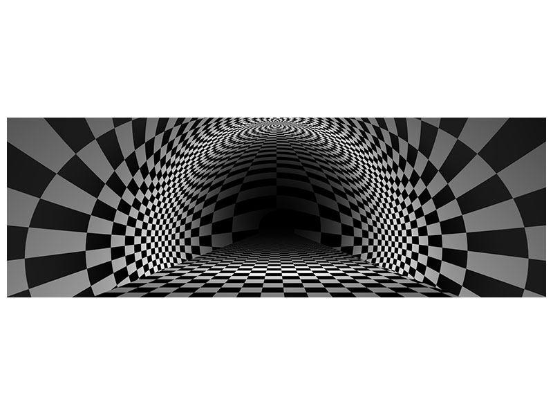 Acrylglasbild Panorama Abstraktes Schachbrett