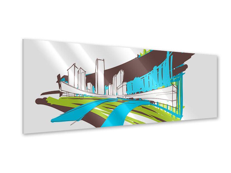 Acrylglasbild Panorama Graffiti Street-Art