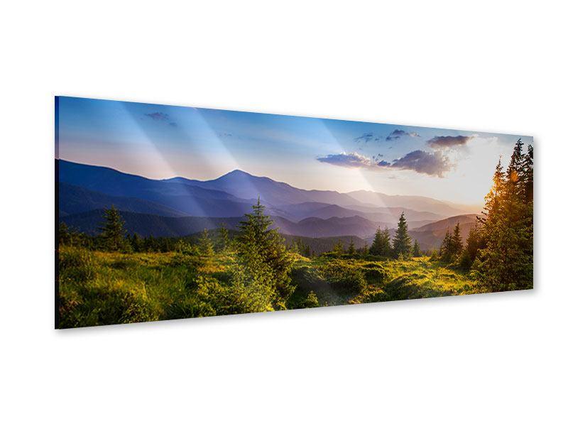 Acrylglasbild Panorama Friedliche Landschaft