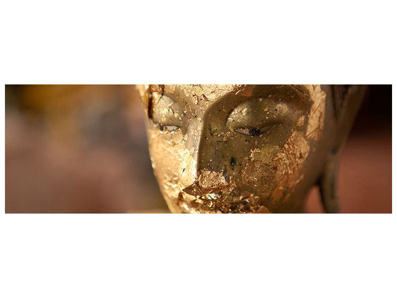 Acrylglasbild Panorama Kopf eines Buddhas