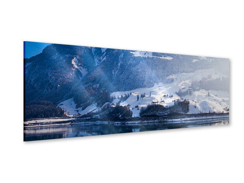 Acrylglasbild Panorama Winterwunderland