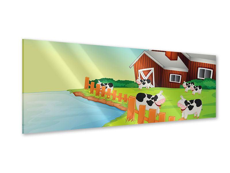 Acrylglasbild Panorama Eine Kuh macht Muh