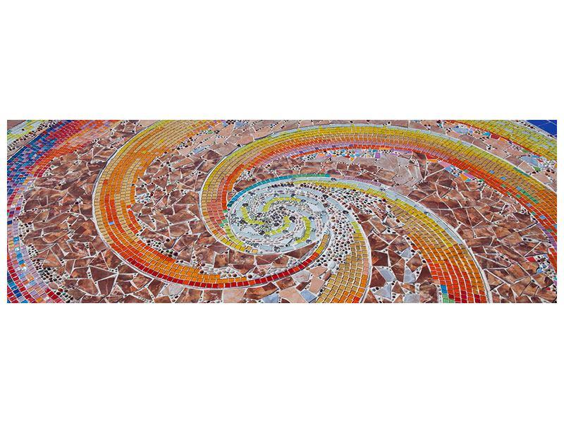 Acrylglasbild Panorama Mosaik