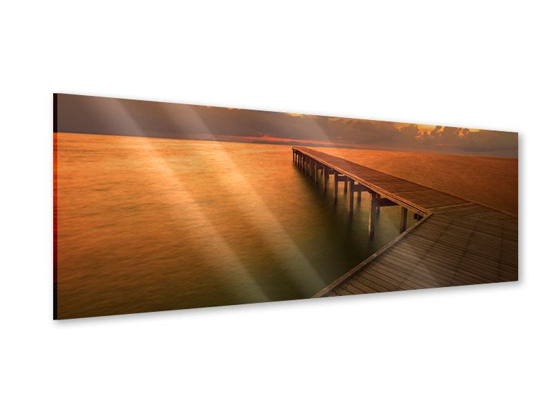 Acrylglasbild Panorama Der Steg am Meer