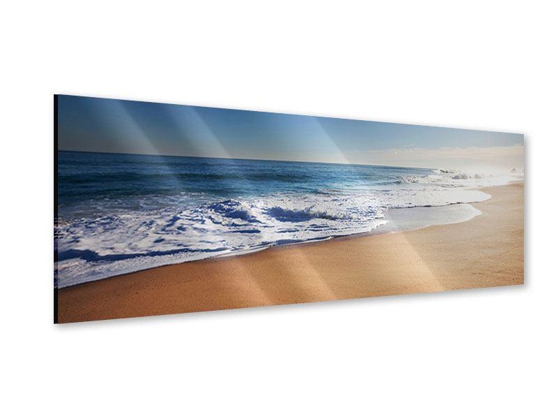 Acrylglasbild Panorama Privatstrand