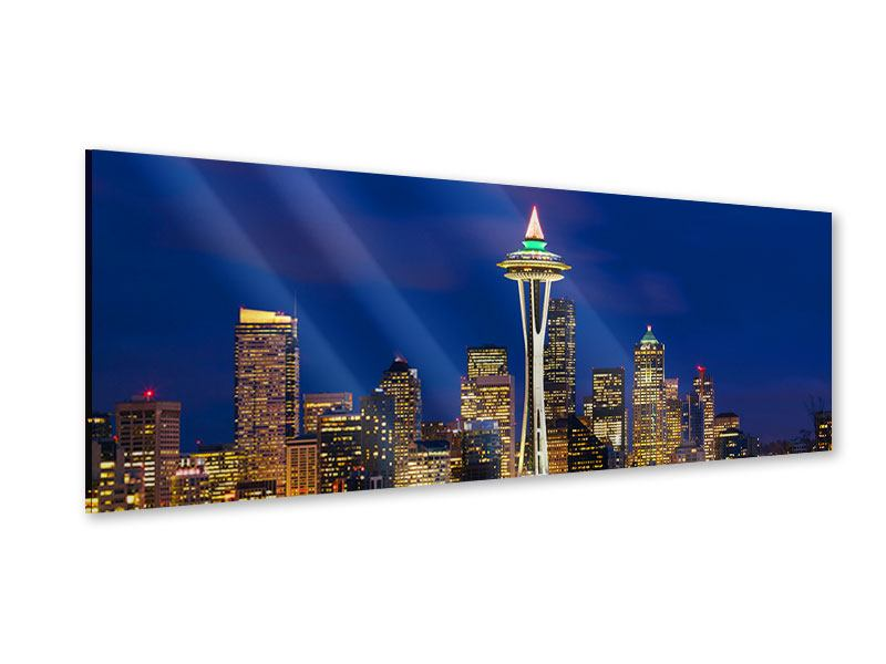 Acrylglasbild Panorama Skyline Seattle