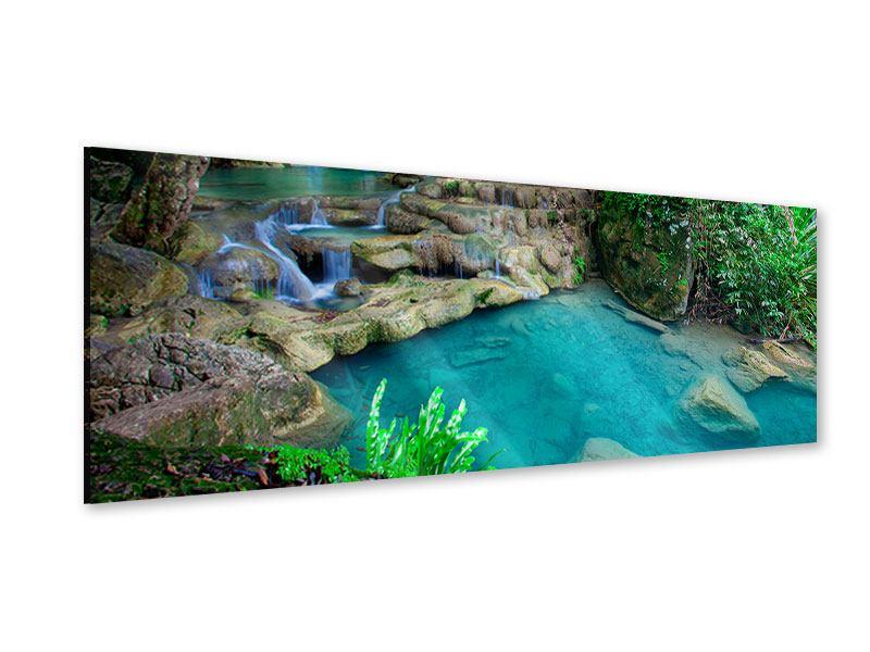 Acrylglasbild Panorama Am Fusse von Erawan
