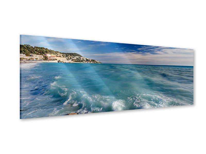 Acrylglasbild Panorama Cote D`Azur