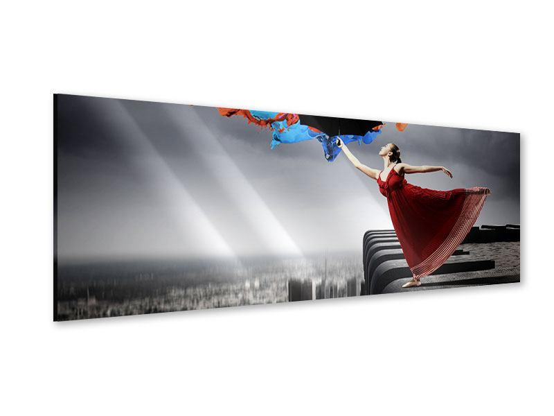 Acrylglasbild Panorama Tanz auf dem Wolkenkratzer