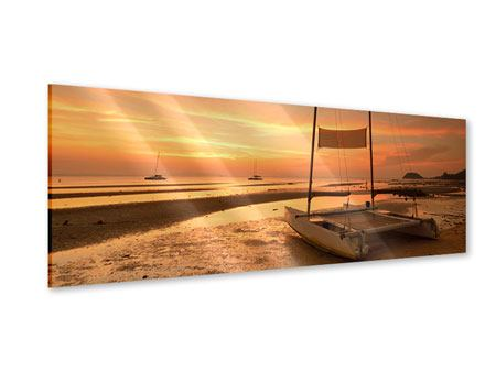 Acrylglasbild Panorama Sonnenuntergang am Strand