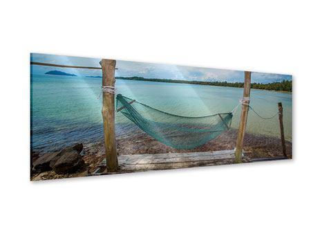 Acrylglasbild Panorama Hängematte