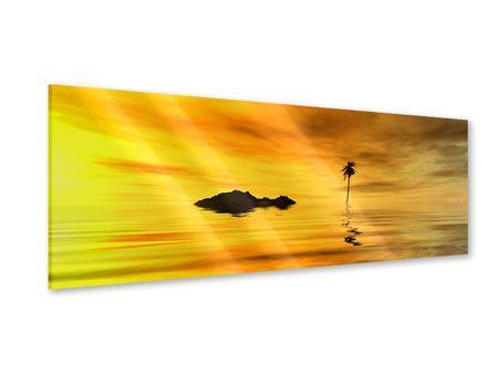 Acrylglasbild Panorama Ab auf die Insel