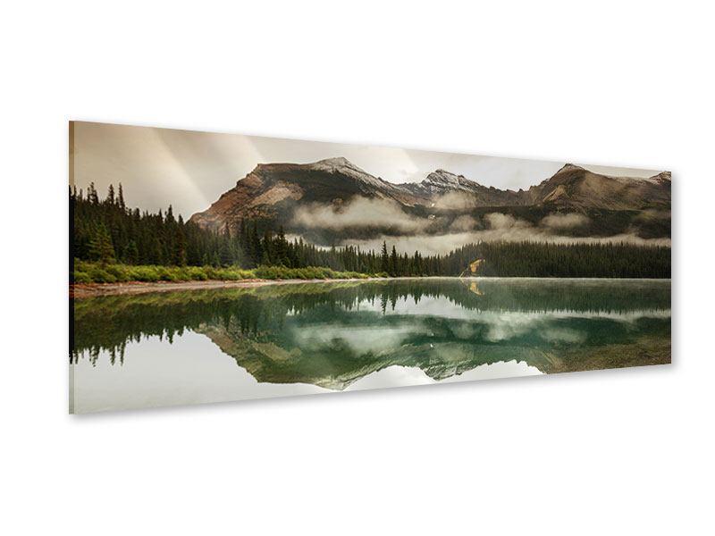 Acrylglasbild Panorama Spiegelung im Glacier Nationalpark