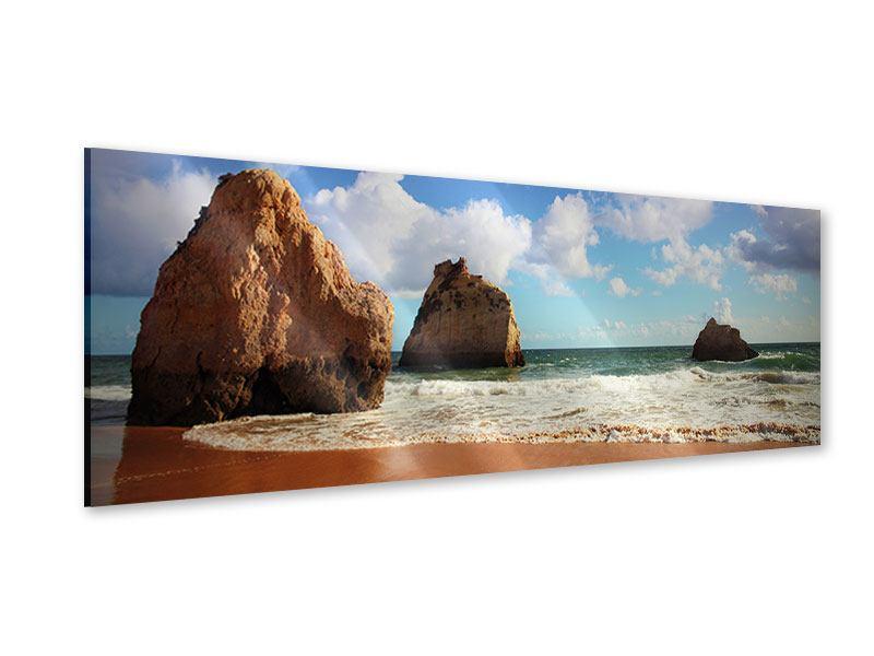 Acrylglasbild Panorama Strandgedanken