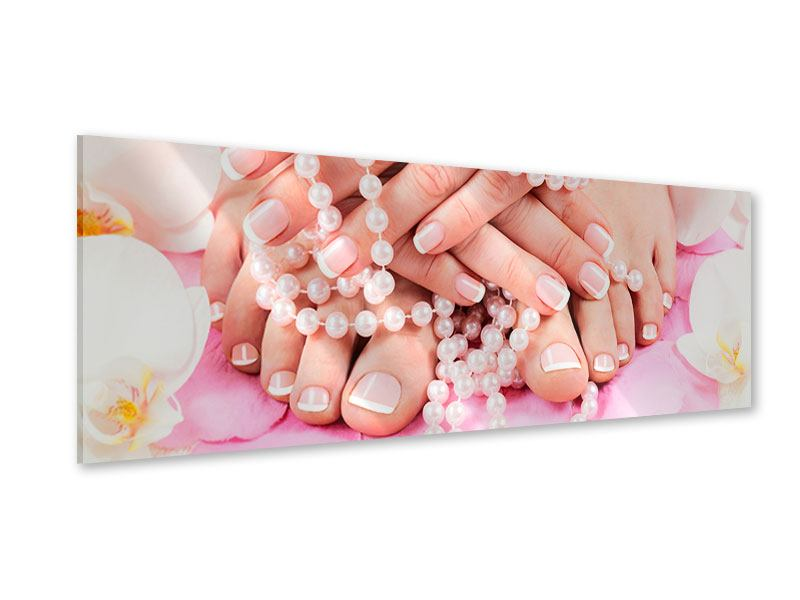 Acrylglasbild Panorama Hände und Füsse