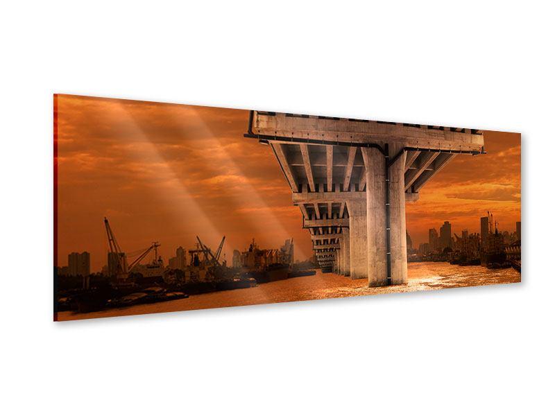Acrylglasbild Panorama Die Brücke