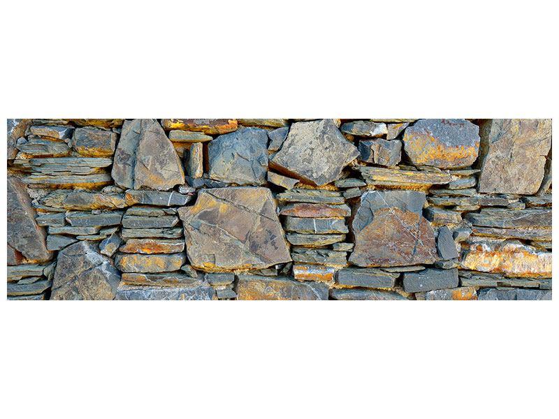 Acrylglasbild Panorama Natürliche Steinmauer