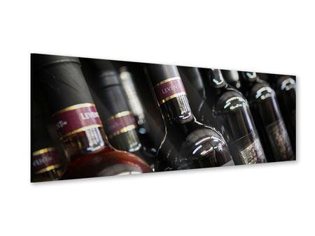 Acrylglasbild Panorama Flaschenweine