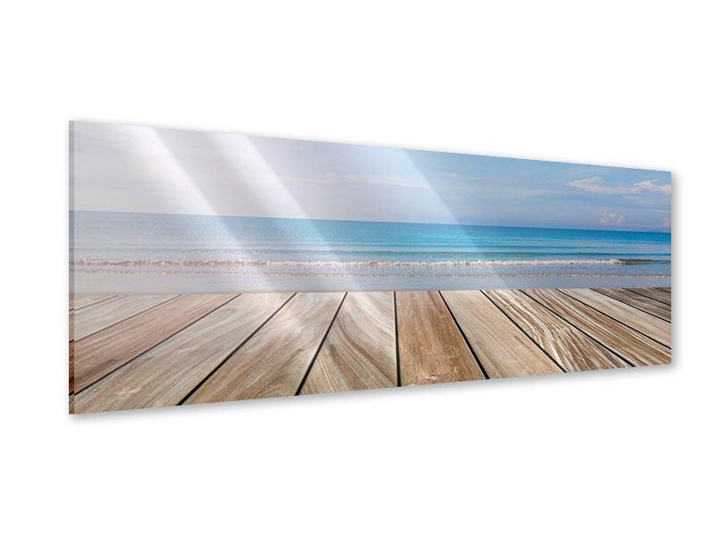 Acrylglasbild Panorama Das schöne Strandhaus