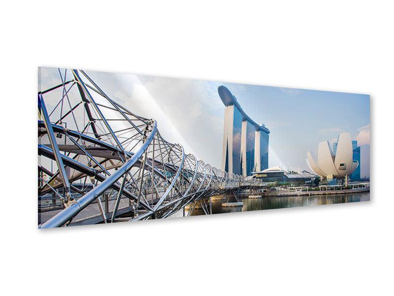 Acrylglasbild Panorama Singapur