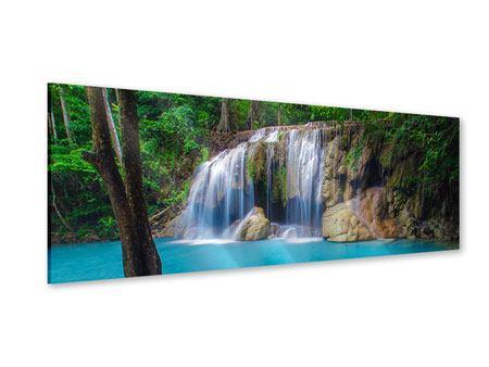 Acrylglasbild Panorama Naturerlebnis Wasserfall