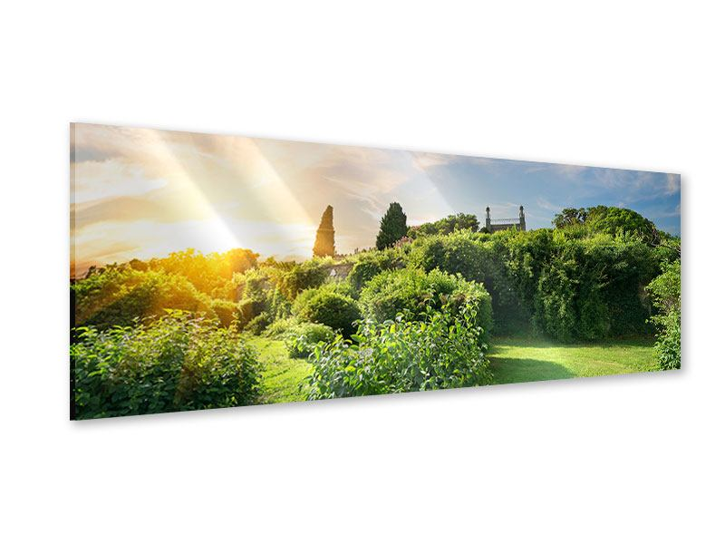 Acrylglasbild Panorama Sonnenaufgang im Park
