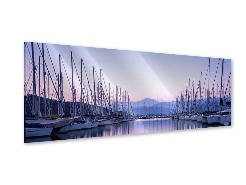 Acrylglasbild Panorama Yachthafen