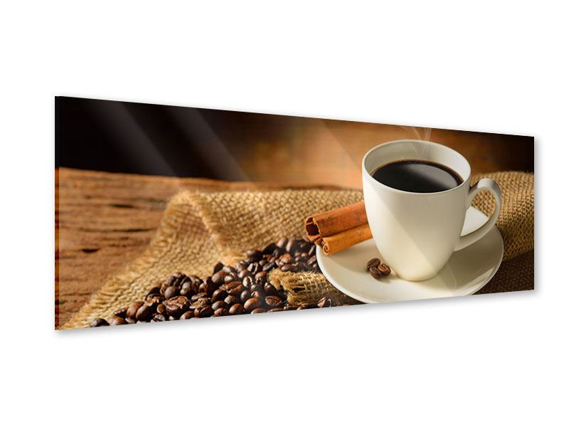 Acrylglasbild Panorama Kaffeepause