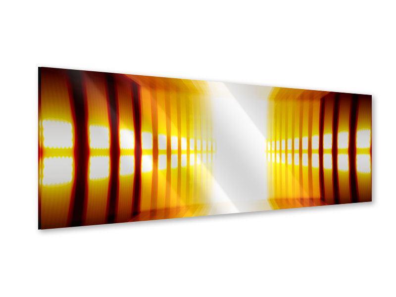 Acrylglasbild Panorama Abstrakter Goldener Raum