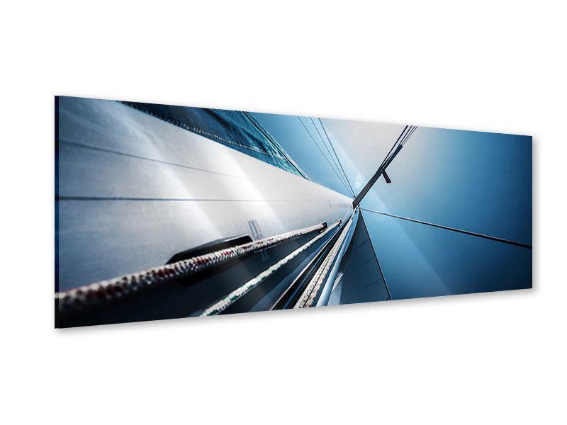 Acrylglasbild Panorama Segelschiff Close Up